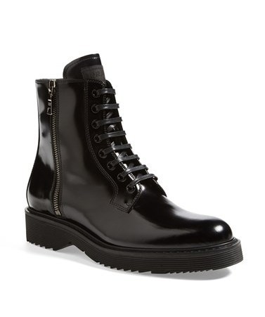 Prada Lace-up Short Boot
