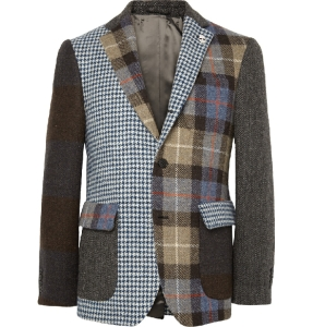 Checked Tweed Blazer by Lardini