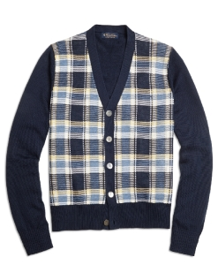 Plaid Cardigan by Brooks Brothers