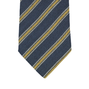Blue panama wool & silk tie