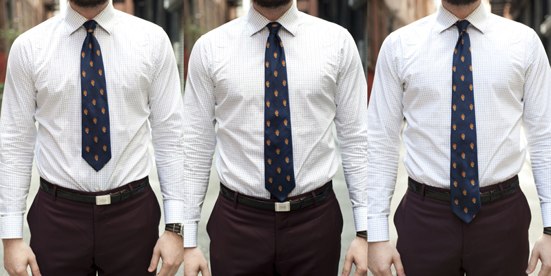 Style mistake - inappropriate tie length