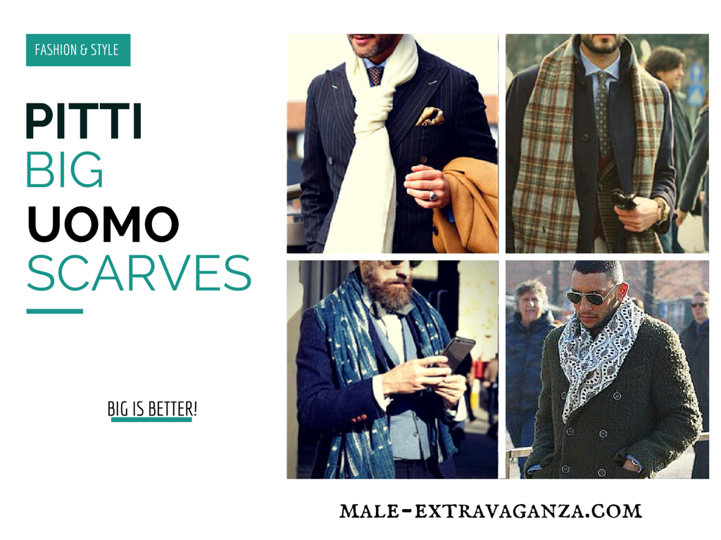 Big Scarf Trend at Pitti Uomo 87 2015