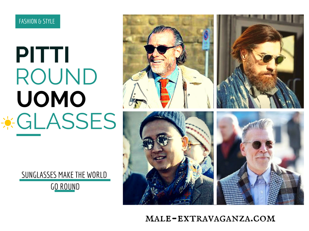 Round SunGlasses Trend at Pitti Uomo 87 2015