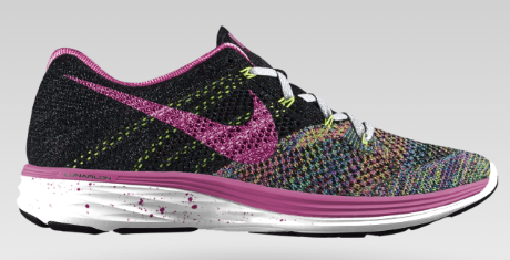 NIKE FLYKNIT LUNAR3 ID Customized in Fuchsia