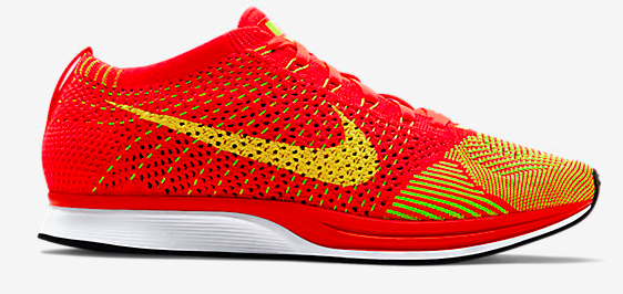 Nike Flyknit Racer Unisex Running Shoe in Orange