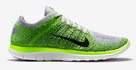 Nike Free 4.0 Flyknit Men s Running Shoe GREEN