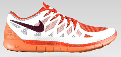 Nike Free 5.0 Running Shoe in Orange Customized