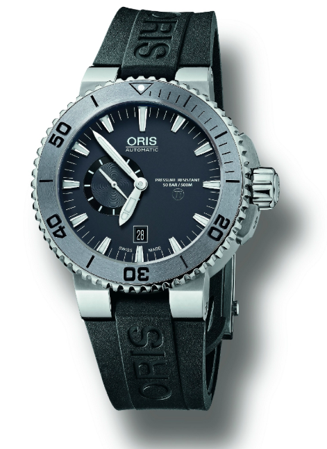 1. Oris Diving Aquis Titan Small Seconds Date Men's Titanium