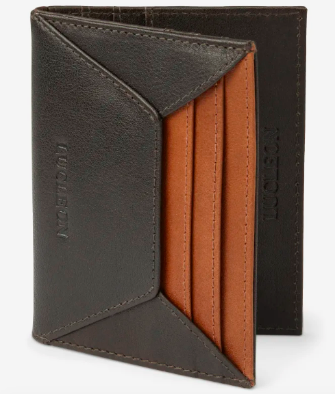 RFID brown wallet