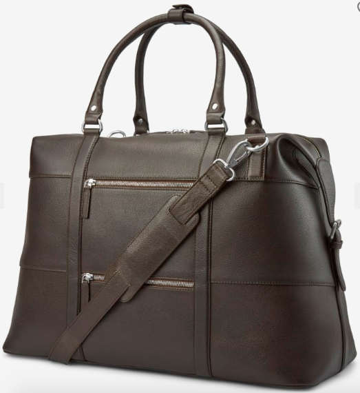black leather tote bag men